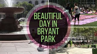 Beautiful Sunny Day in Bryant Park NYC | Yoga Mats