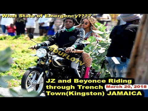 JZ and Beyonce riding through State of Emergency Kingston Jamaica