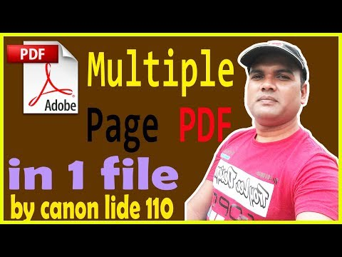 how-to-multiple-page-scan-with-pdf-?-by-canon-lide-110-scanner
