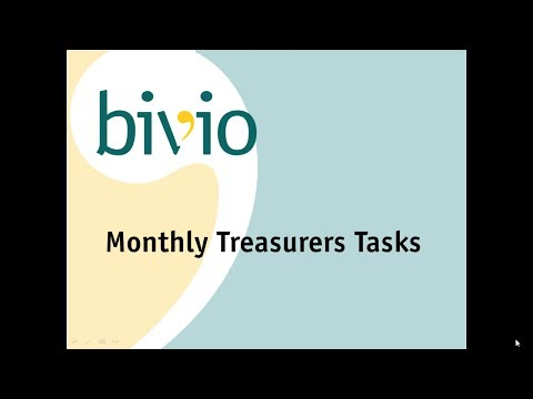 Monthly Treasurer Tasks