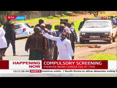 Fighting COVID-19: Compulsory screening along the border of Elgoyo Marakwet and Uasin Gishu county