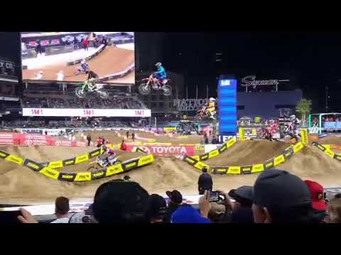 Justin Bogle San Diego Supercross Crash 2018