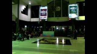 Sancaka sore train entering Surabaya Gubeng train station