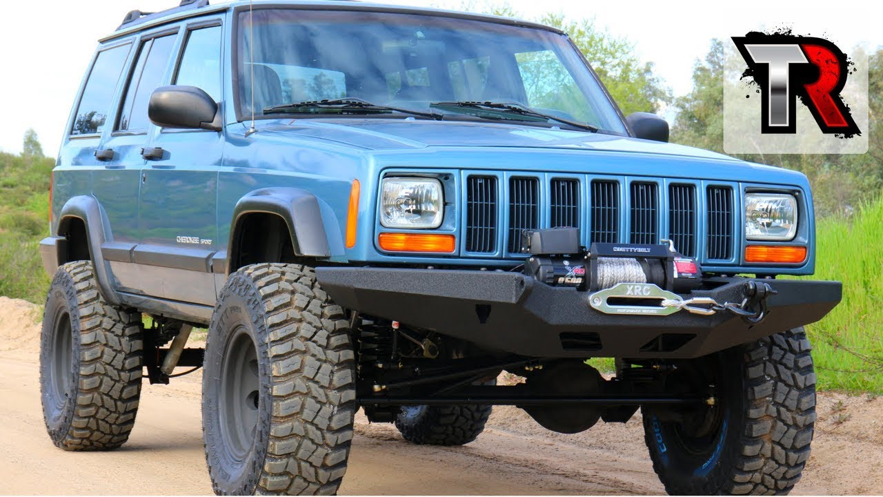Jeep Grand Cherokee Off Road Bumper >> Jeep Cherokee XJ Bumper, Winch & Battery Tray - Project XJ Overland Ep. 8 - YouTube