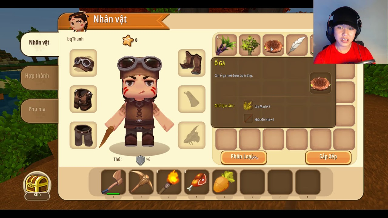 bqThanh Bỏ Học để đi chơi thử game Mini World ...?