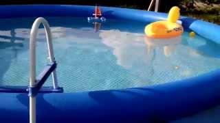 Обзор. Надувной бассейн Intex Easy Set.  457х91
