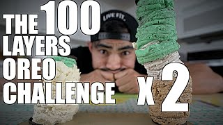 100 LAYERS OF OREO CREAM CHALLENGE X 2