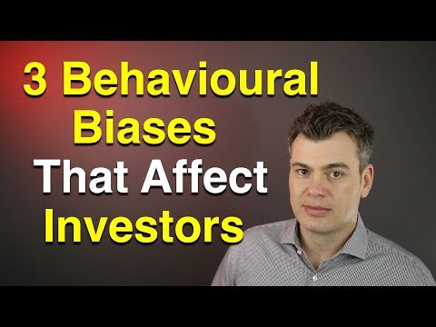 3 Behavioral Biases affecting investors  -  Cognitive / Emotional Biases