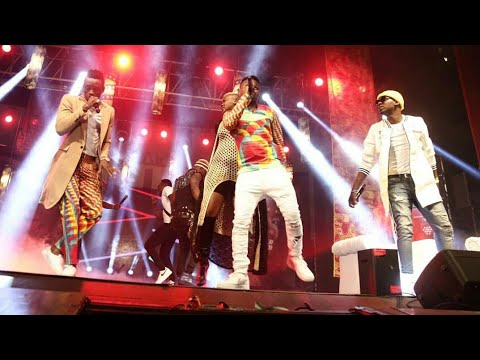 Wcb wasafi performing ZILIPENDWA live during A BOY FROM TANDALE album launch in Kenya.