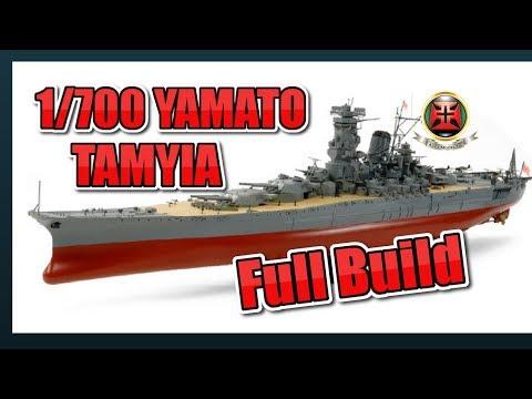 Tamyia 1/700 YAMATO FULL BUILD ( 正直なヤマトを作る )