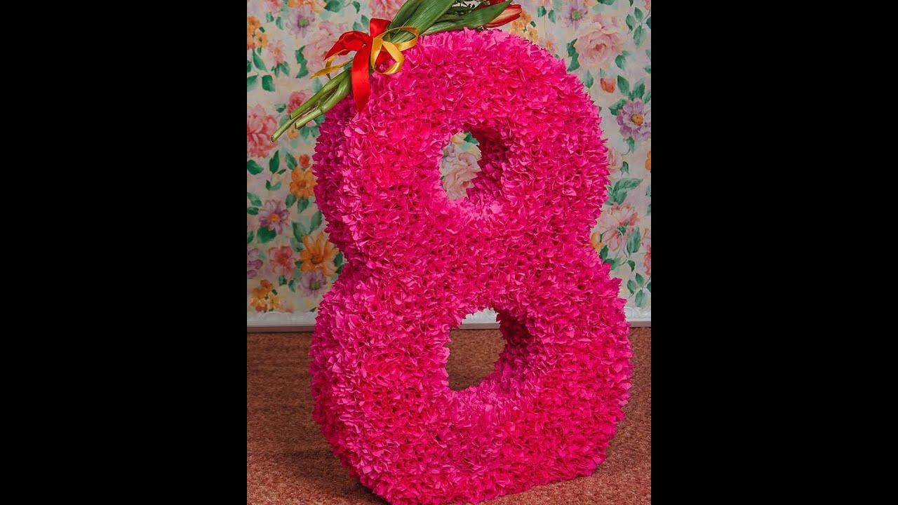 Картонная цифра на день рождения своими руками 162
