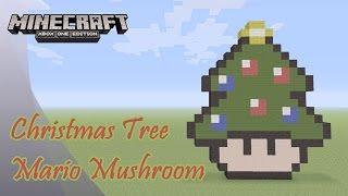 Minecraft: Pixel Art Tutorial and Showcase: Christmas Tree Mario Mushroom