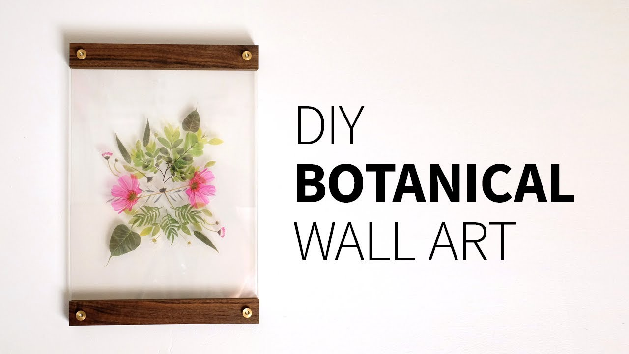DIY Botanical Wall Art ...  sc 1 st  YouTube & DIY Botanical Wall Art | How to - YouTube