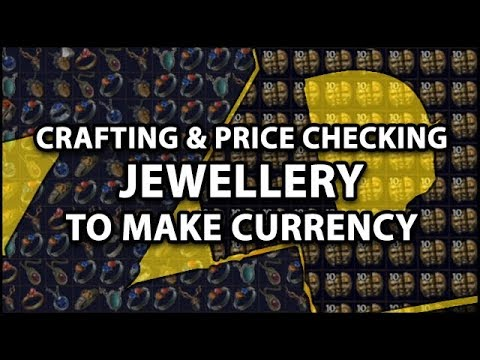 Path of Exile 3.0: MEGA Jewellery Crafting Session - Crafting & Price Checking To Make Currency