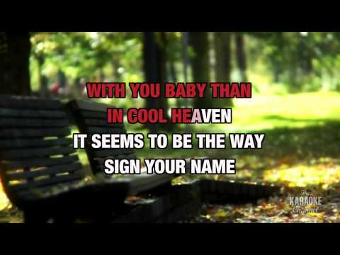 Sign Your Name in the style of Terence Trent D'Arby   Karaoke with Lyrics