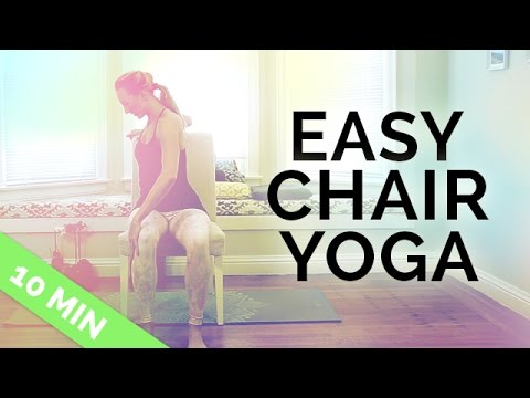 Chair Yoga for Seniors, Beginners & People On the Go | Easy Chair Yoga Excercises (10 Mins)