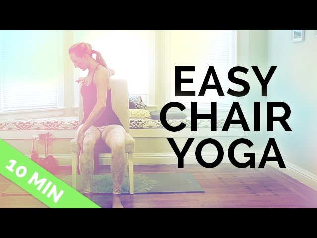 Top 3 Easy Chair Yoga Excercises For Seniors And Beginners