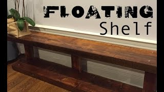Floating Metal/wood Shelf