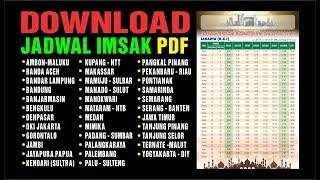 Gambar cover Jadwal imsak 2019 format pdf gratis download