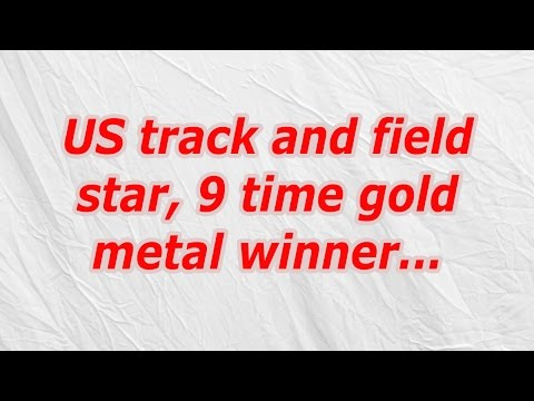 US track and field star, 9 time gold metal winner (CodyCross Crossword Answer)