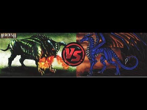 ГЕРОИ 3 | 7 могучих горгон возьмут жилище лазурного дракона?