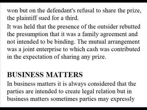 intention to create legal relations Consideration and estoppel intention to create legal relations revision  the following is a plain text extract of the pdf sample above, taken from our contract law notes.
