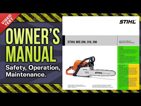Owner's Manual: STIHL MS 290 310 390 Chain Saw