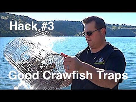 Crawfishing Hack #3  Good Traps For Crayfish Crawdads And Mudbugs.