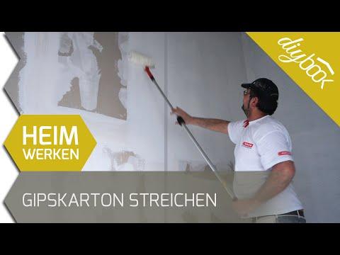 Bevorzugt Gipskarton streichen - Trockenbaufarbe im Einsatz - YouTube QD79