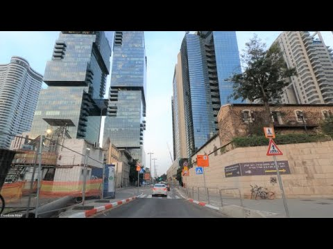 4K Tel Aviv Driving In Israel  2021 נסיעה בתל אביב ישראל