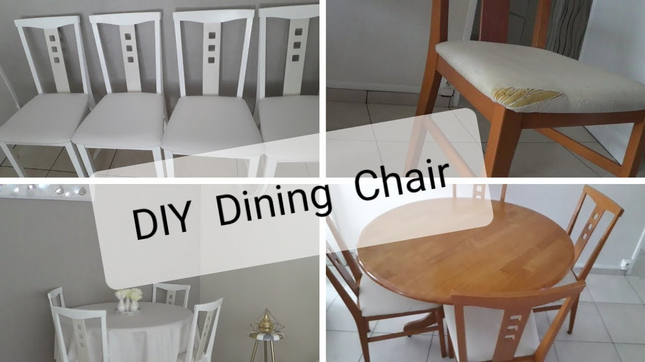 DIY Dining Room Chairs💕اعادة تدوير كراسي  السفرة