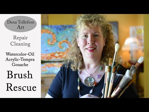 Brush Rescue! How to Clean, Repair & Protect Your Paint Brushes All Brush Types, Paint Brush Care