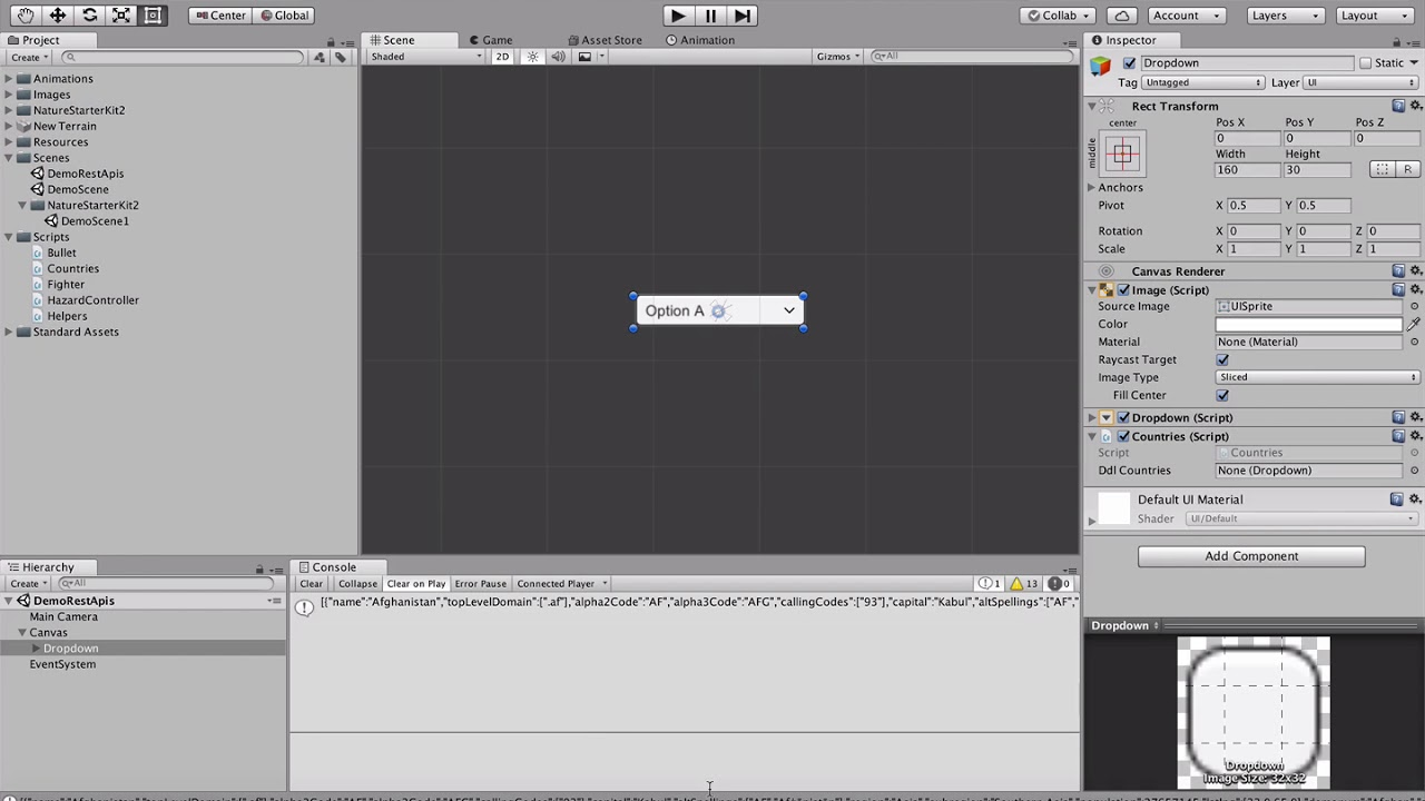 Using REST APIs and JSON in Unity