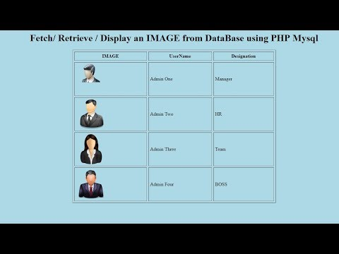 How To Fetch / Display An IMAGE From DataBase Using PHP Mysql