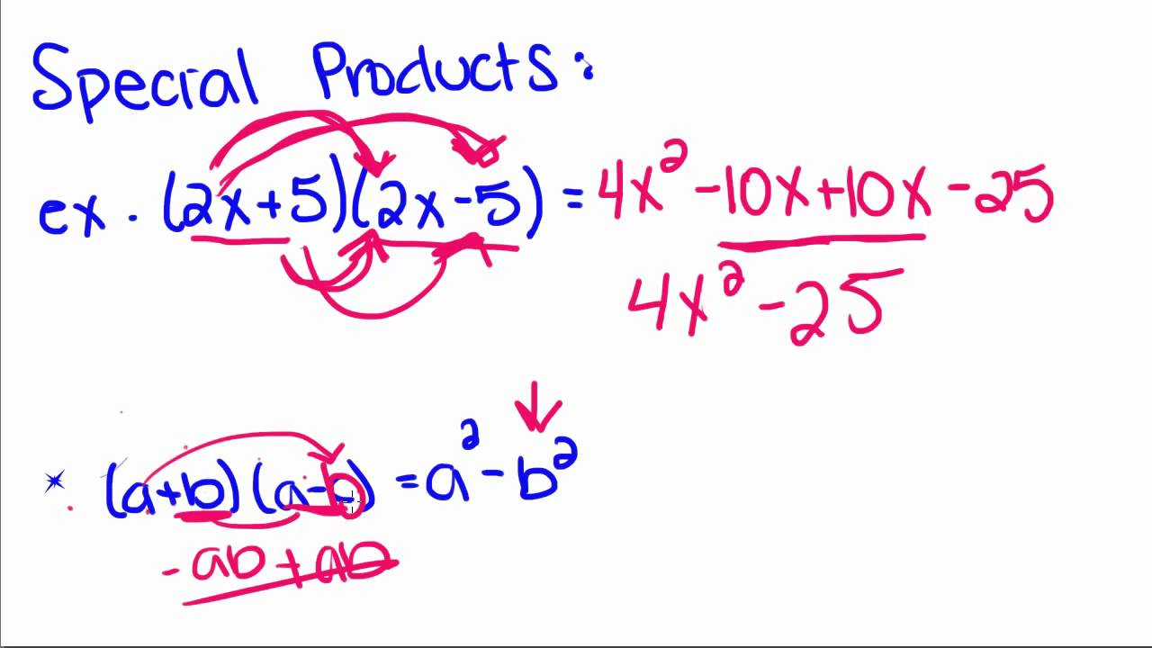 Algebra Tutorial - 17 - Special Products of Binomials - YouTube
