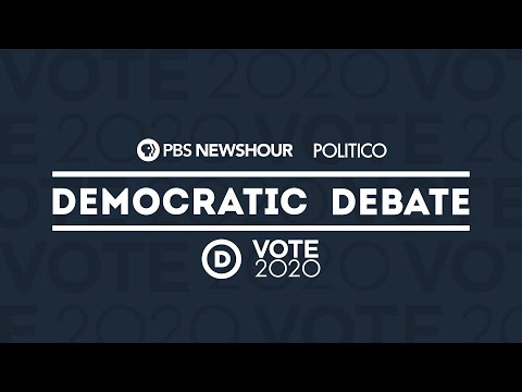 Tune in to the PBS NewsHour/POLITICO Democratic presidential debate