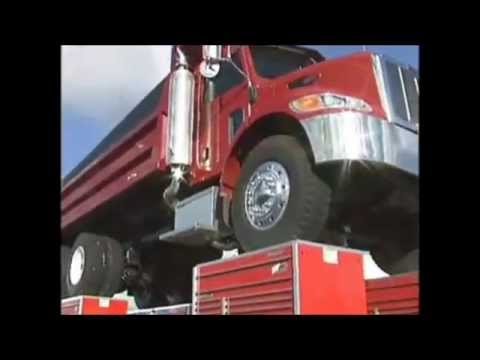 Watch on red semi truck