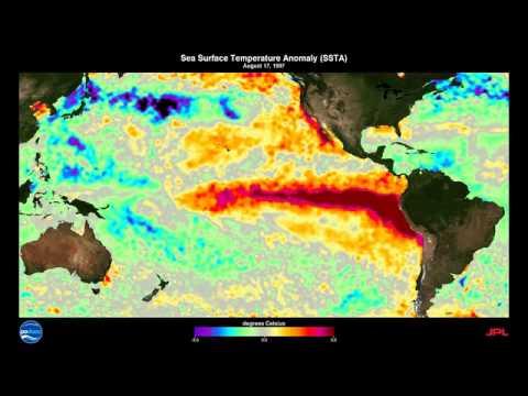 1997-1998 El Niño-Southern Oscillation (ENSO) Sea Surface Temperature Anomalies (SSTA)