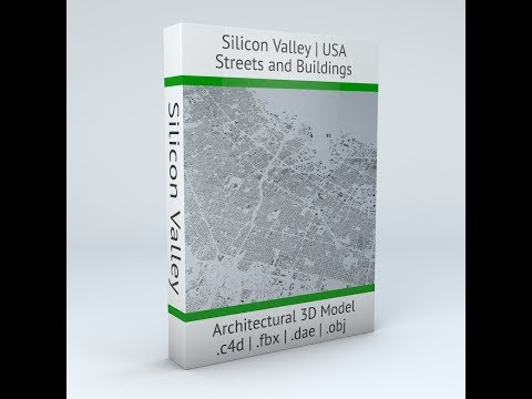 Silicon Valley USA Streets and Buildings Pro Architectural 3D Model