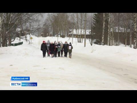 Видео Порядок в ярославском селе помогают охранять хрупкие женщины