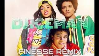 DJ ICEMAN NZ-_-BRUNO MARS FT. CARDI B - FINESSE (REMIX) VS M.J REMEMBER THE TIME 2K18