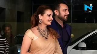 Saqib Saleem, Jacqueline, Dia Mirza & Aayush Sharma at Ramesh Taurani's  party