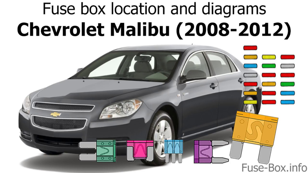 Fuse box location and diagrams: Chevrolet Malibu (2008-2012) - YouTube  YouTube
