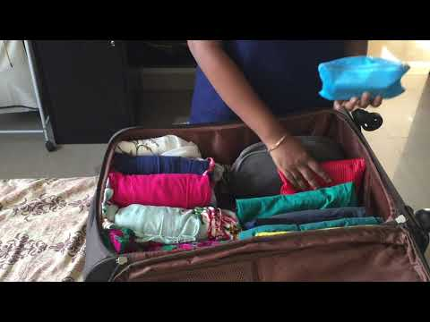 HOW I PACK MY  SUITCASE IN TELUGU ||Travel packing Tips and hacks || sireesha