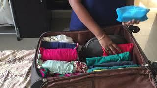 HOW I PACK MY  SUITCASE IN TELUGU ||Travel packing Tips and hacks || sireesha