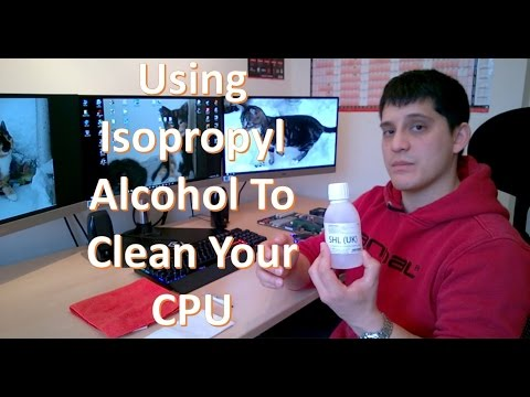 How to remove and install CPU thermal compound using alcohol