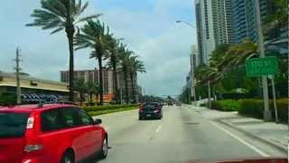 № 2485 США  На  машине по Майами  Miami beach Sunny Isles