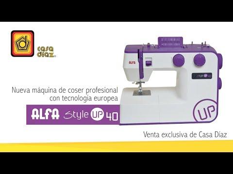 Máquina de coser Alfa Style Up 40 - YouTube