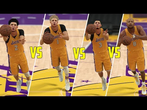 WHO CAN HIT A HALF COURT SHOT FIRST IN THE BALL FAMILY? LONZO, LAVAR, LAMELO, OR LIANGELO? NBA 2K17
