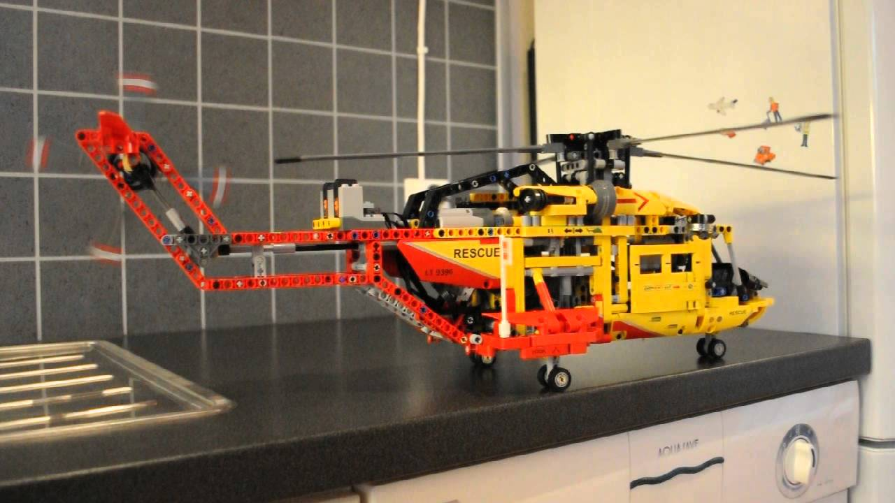 technic lego 9396 rescue helicopter with costumized motors youtube. Black Bedroom Furniture Sets. Home Design Ideas